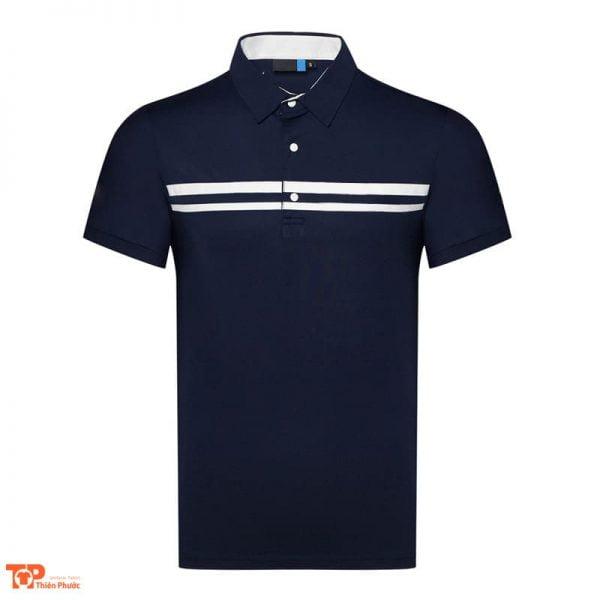 áo đồng phục công ty nam tay ngắn màu xanh đen