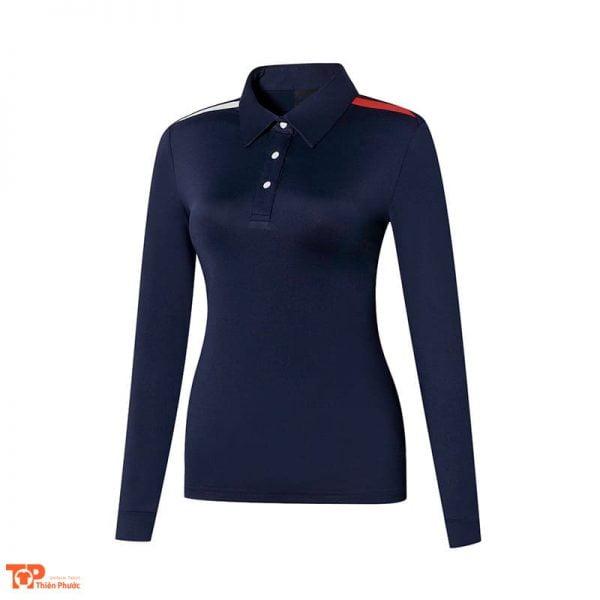 áo đồng phục cong ty nữ tay dài màu đen