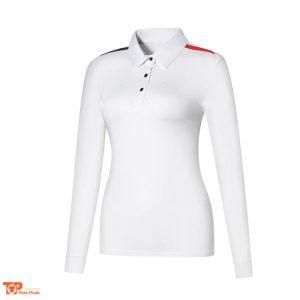 áo đồng phục công ty nữ tay dài màu trắng