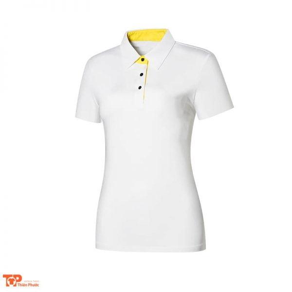 áo đồng phục công ty nữ tay ngắn màu trắng