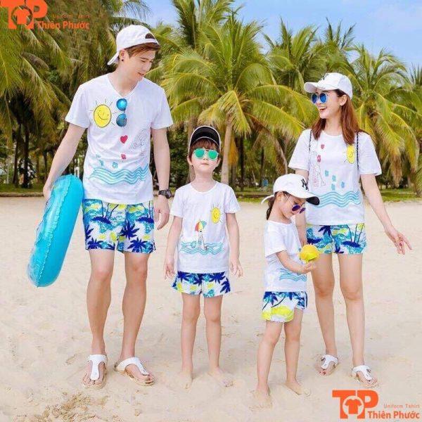 áo đồng phục gia đình đi biển đẹp