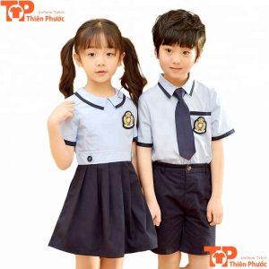 áo đồng phục học sinh mầm non cổ xòe
