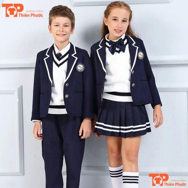 áo đồng phục học sinh mầm non kiểu anh quốc