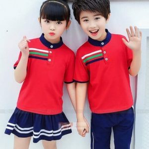 áo đồng phục mầm non màu đỏ