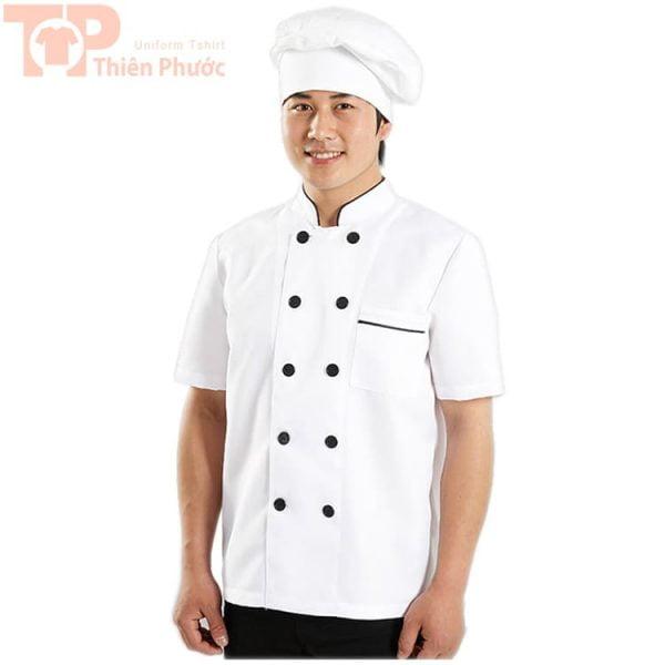 Áo đồng phục phụ bếp may sẵn