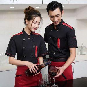 áo đồng phục quán cafe màu đen