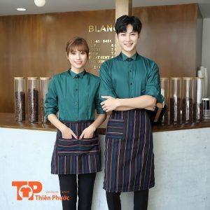 áo đồng phục quán cafe trẻ trung