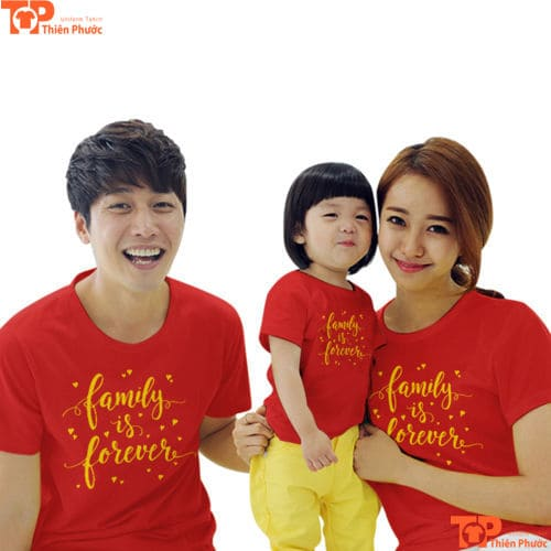 áo gia đình 3 người dịp tết
