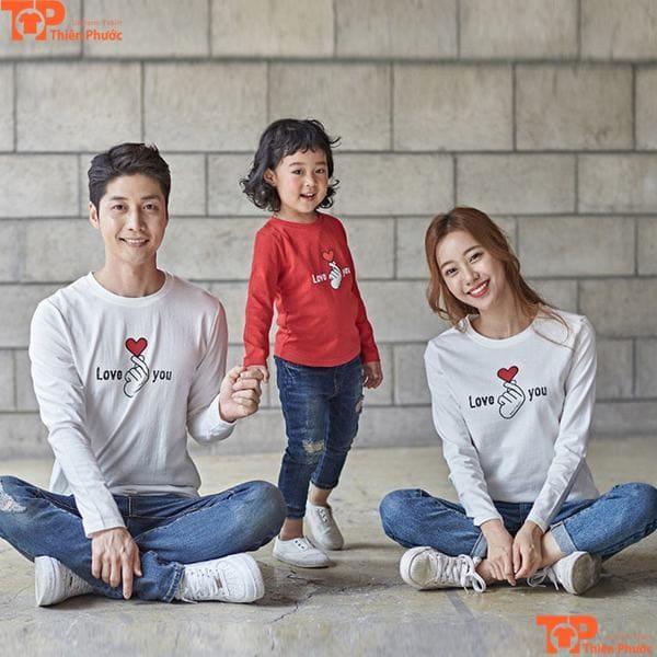 áo gia đình 3 người tay dài