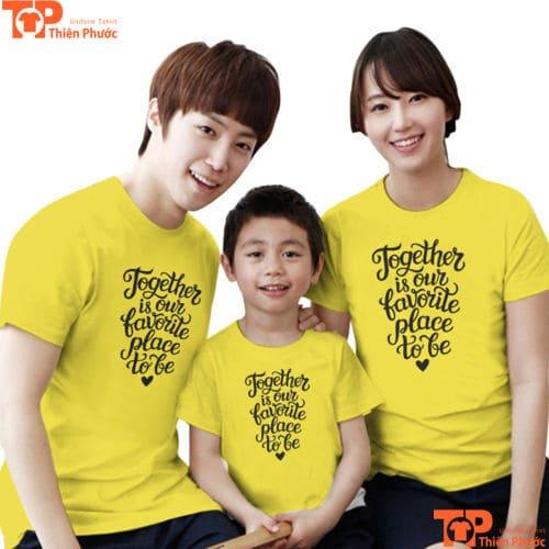 áo gia đình 3 người thu đông