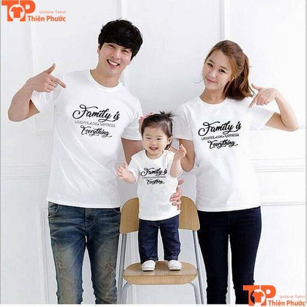 áo gia đình 3 người trẻ trung