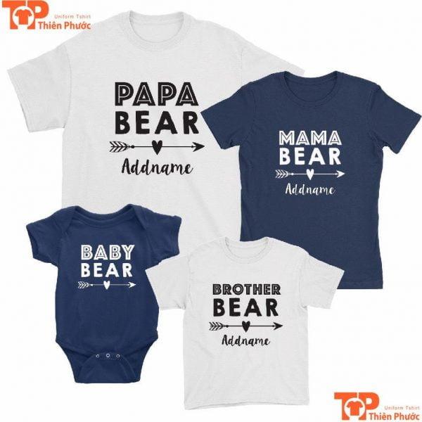áo gia đình 4 người cho bé dưới 1 tuổi