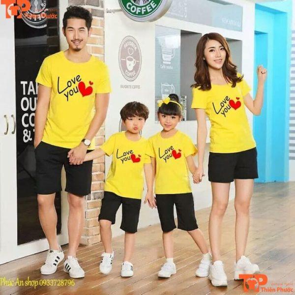 áo gia đình 4 người thu đông