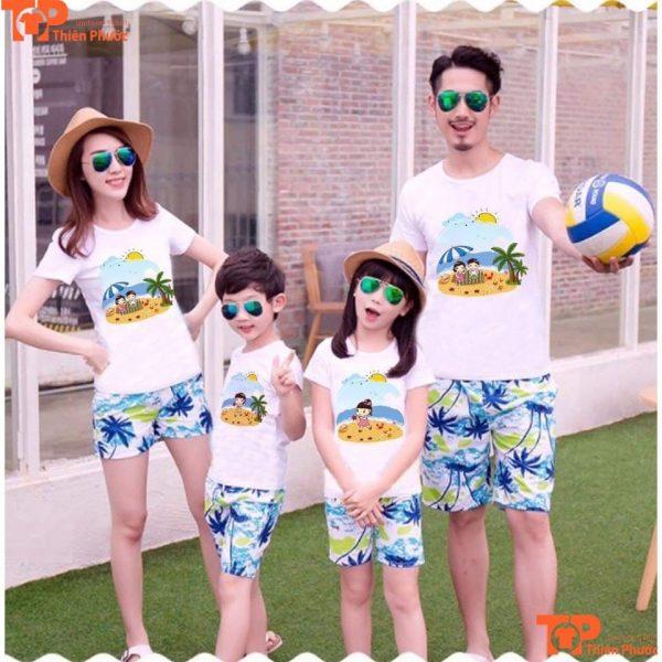 áo gia đình đi biển 4 người giá rẻ
