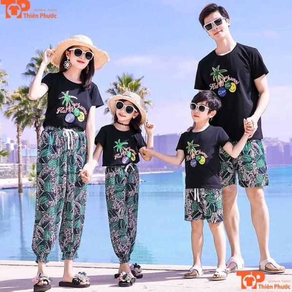 áo gia đình đi biển du lịch đẹp