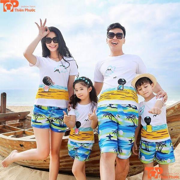áo gia đình đi biển nổi bật