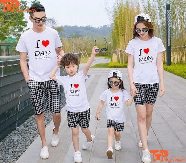áo gia đình đi chơi 4 người đẹp