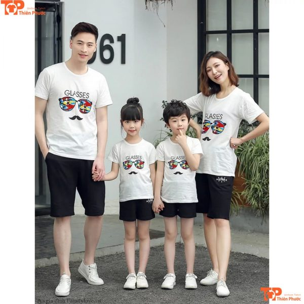 áo gia đình in họa tiết đa dạng