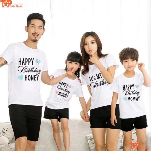 áo gia đình in họa tiết giá rẻ
