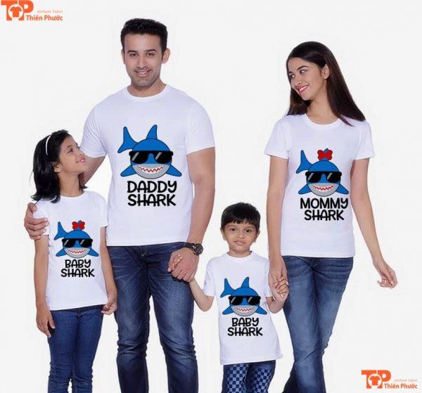 áo gia đình in họa tiết theo yêu cầu