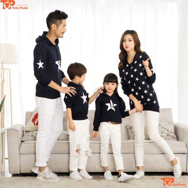 áo gia đình in nhiều họa tiết đẹp
