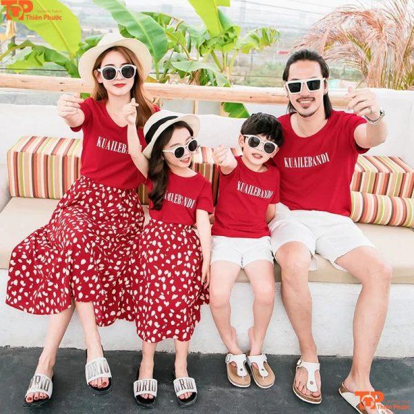 áo gia đình kiểu hàn quốc đi du lịch