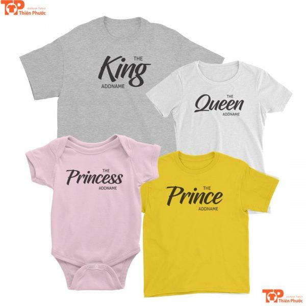 áo gia đình mẫu in họa tiết đơn giản