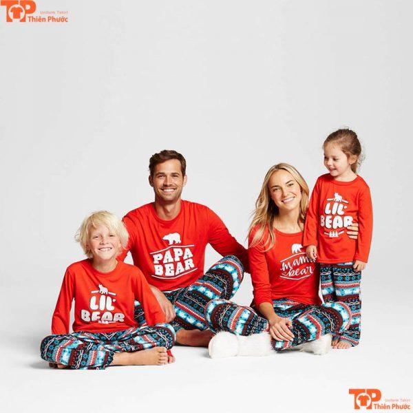 áo gia đình noel giáng sinh