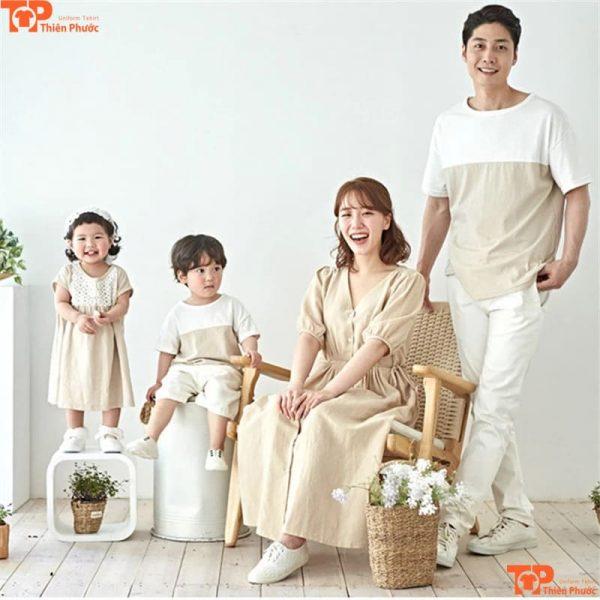 áo gia đình thiết kế cho 4 người