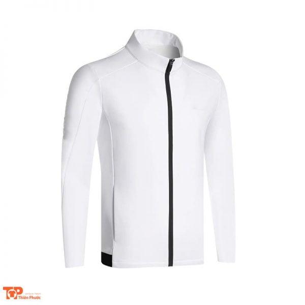 áo khoác đồng phục công ty nam màu trắng