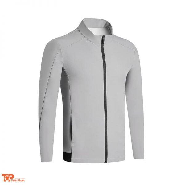 áo khoác đồng phục công ty nam màu xám