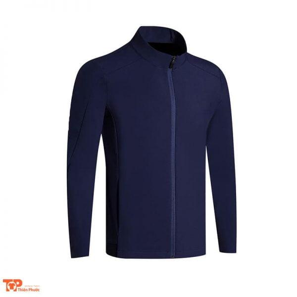 áo khoác đồng phục công ty nam màu xanh đậm
