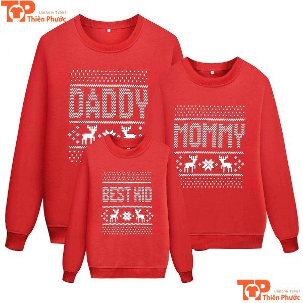 áo len gia đình 3 người giáng sinh