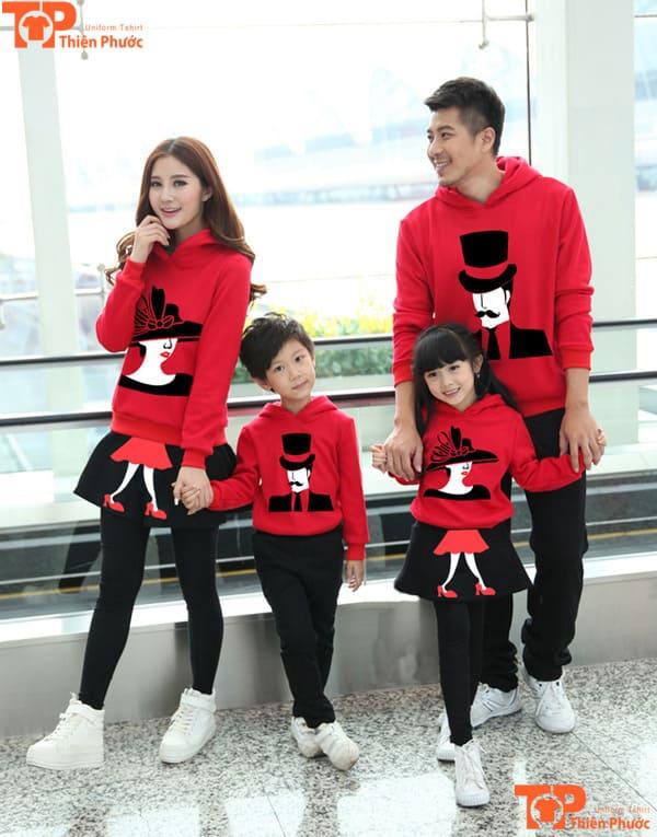 áo len gia đình 4 người