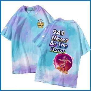 áo thun lớp 3d galaxy