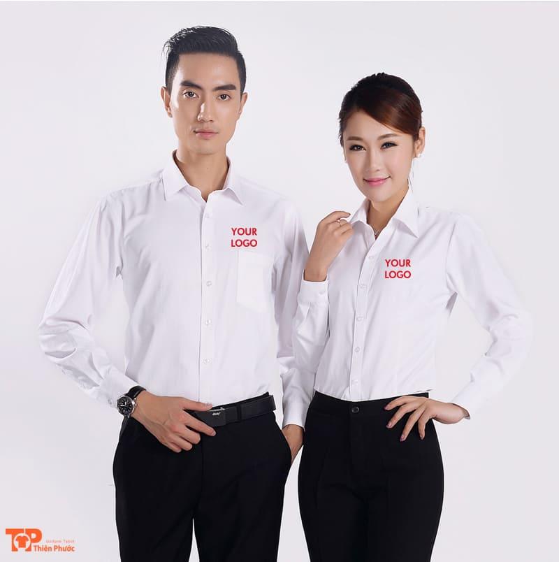 áo sơ mi doanh nghiệp công ty màu trắng