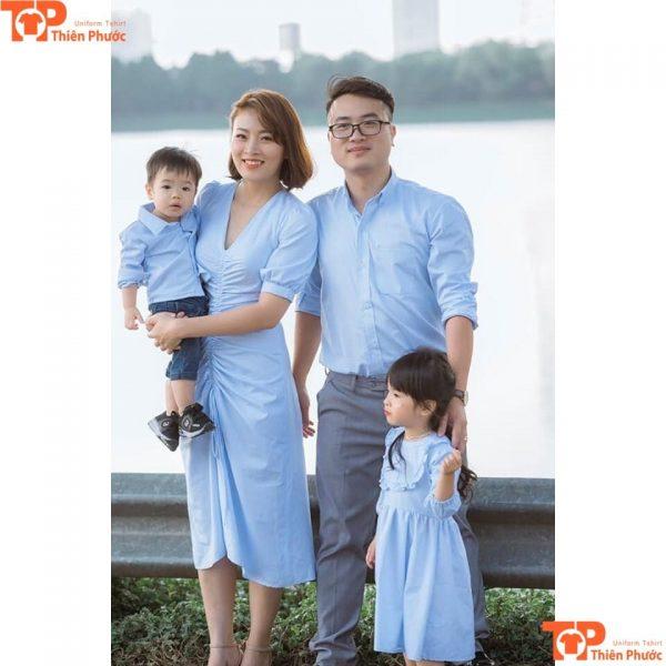 áo sơ mi đồng phục gia đình đẹp
