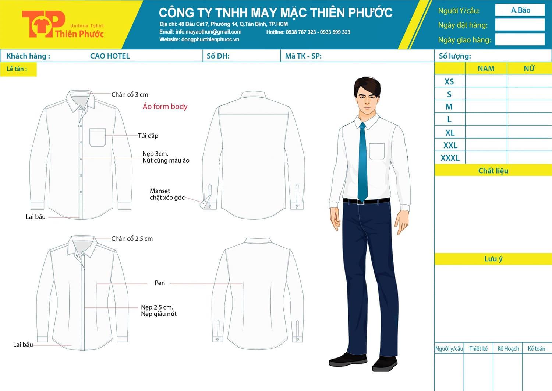 đặt may mẫu thiết kế áo sơ mi đồng phục văn phòng công sở nam