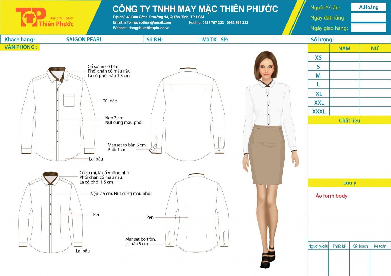 đặt may mẫu thiết kế đồng phục văn phòng nữ