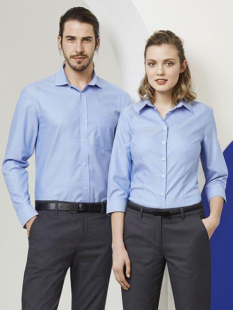 áo sơ mi tay dài công sở cho nam nữ
