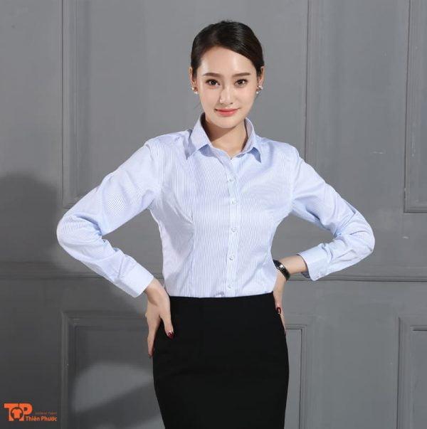 áo somi đồng phục công ty doanh nghiệp nữ