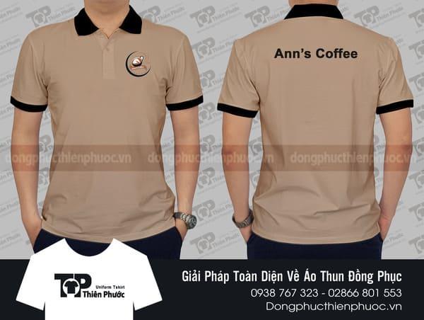Áo thun có cổ Ann's Coffee