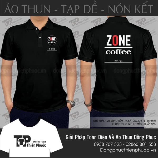 Áo thun có cổ Zone Coffee