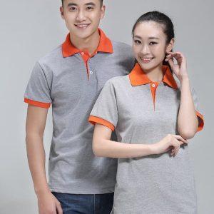 áo thun công nhân màu xám