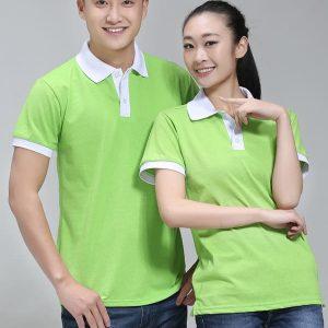 áo thun công nhân màu xanh lá