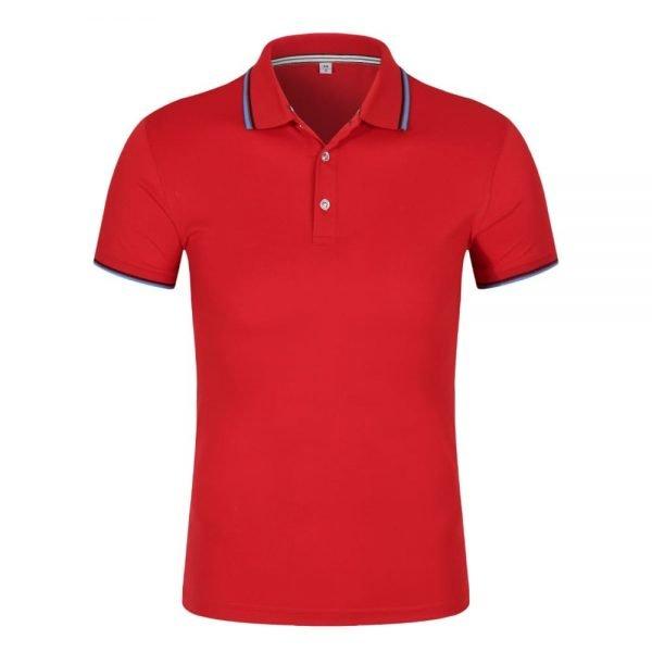 đồng phục áo phông công sở tay ngắn màu đỏ