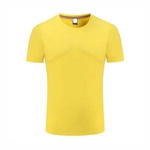 áo thun công sở cổ tròn màu vàng