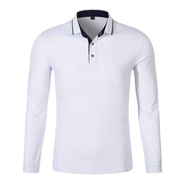 áo thun nhân viên công sở tay dài màu trắng