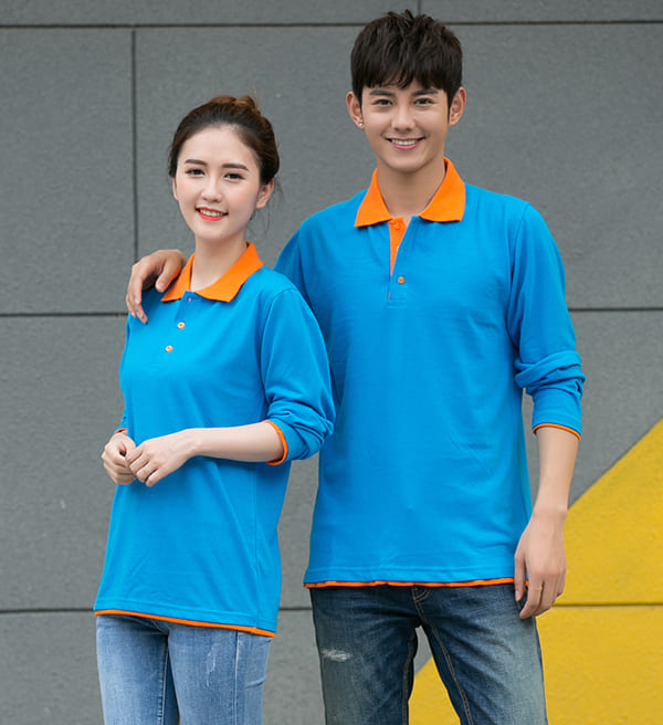 áo thun đồng phục công nhân màu xanh