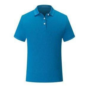 áo thun đồng phục công sở cổ trụ xanh dương